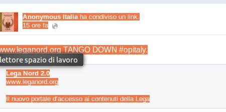 Anonymous Italia mette fuori uso il sito della Lega
