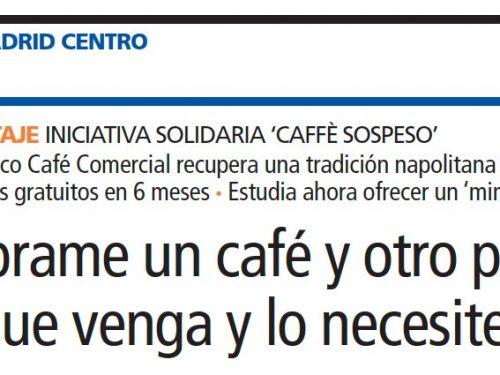 Anche a Madrid, il caffè sospeso