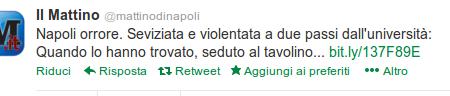 Le incomprensibili ragioni del titolista del quotidiano di Napoli