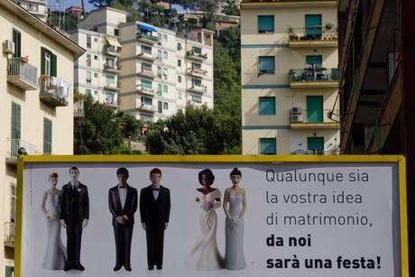Caserta: la pubblicità dei matrimoni senza distinzione di genere