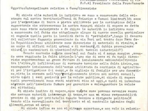 Documento esclusivo sulla Terra dei Fuochi: la prima denuncia del PCI di Casal di Principe del 1988