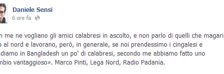 """""""Meglio cingalesi che calabresi"""""""