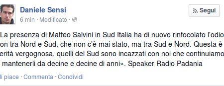 """Radio Padania:""""Non c'è nessun odio del Nord"""""""