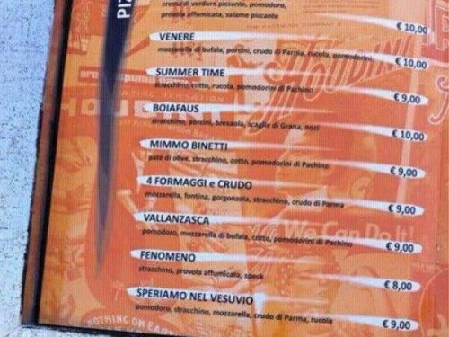 """""""Speriamo nel Vesuvio"""" la pizzeria che inventa un ossimoro"""