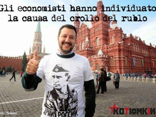 L'ipotesi di Kotiomkin: Salvini ha affondato il rublo?