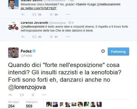 Jovanotti rispetta Salvini. Amen.