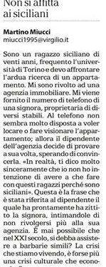 Torino 2015, non si affitta ai siciliani
