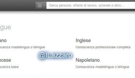 Su Linkedin: Napoletano, Siciliano e Sardo sono lingue madri