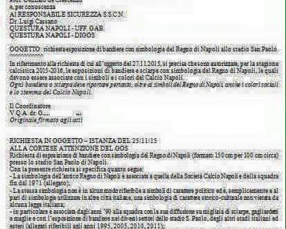 La Questura di Napoli ai neoborbonici: si alla bandiera ma solo con i colori sociali del Napoli