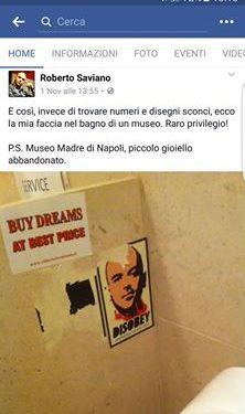 Salvate Saviano: riportatelo a Napoli!