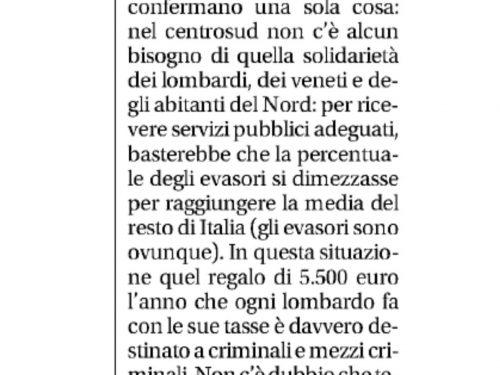 Libero, luoghi comuni, sempre più la Pravda della Padania