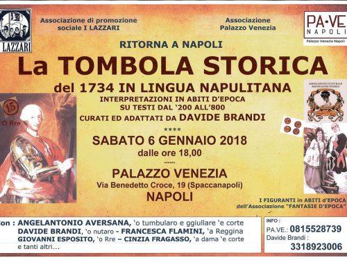 Torna a Napoli la Tombola Storica