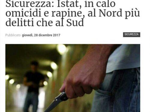 STATISTICHE ISTAT / Al Nord più delitti che al Sud