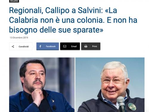 Il patron del tonno Callipo su Salvini